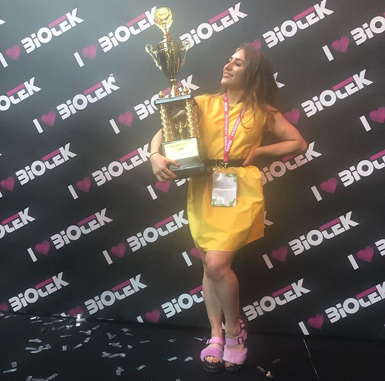 Jasmine with Biotek trophy